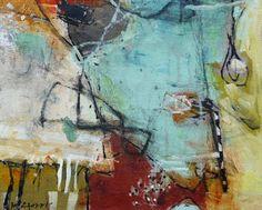 Krista Harris, Boat Pond 2013, mixed media on linen
