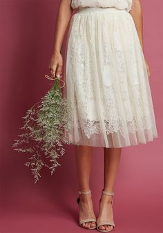 13bec3437d4 Indulge in Joy A-Line Skirt in Ivory in XS - Full Skirt - Plus