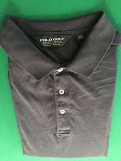Men's POLO GOLF RALPH LAUREN Golf Shirt - 100% Pima - Navy Blue  - Size XXL…