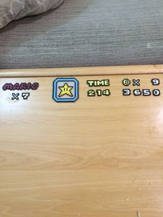 Finally, end the hud for Super Mario screen Perler & Hama Beads