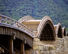 The Kintai Bridge in Iwakuni, Japan, where I lived for a year in 1986. Hope to go back one day.  The bridge was built with arches and steps to slow down armies on horseback -- clever!  Surrounded by cherry trees, it is the perfect place to write haiku.  I know because I've done it.