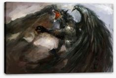 Dragons Stretched Canvas 24301 by Wall Art Prints