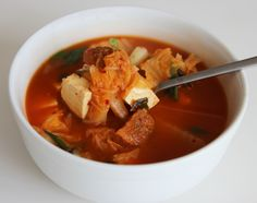 Kimchi soup (Kimchi-guk) recipe - Maangchi.com