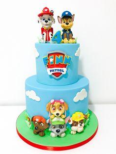 Marshall Cake Paw Patrol, Rubble Paw Patrol Cake, Paw Patrol Chase Cake, Torta Paw Patrol, Boys First Birthday Cake, 4th Birthday Cakes, Paw Patrol Party Decorations, Paw Patrol Birthday Theme, Cakes For Boys