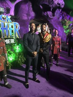 Michael B Jordan and Ryan Coogler at the Black Panther Premiere.