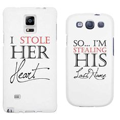 365 Printing I Stole Her Heart So I'm Stealing His Last Name White Matching Couple Phone Cases Wedding Gifts His Galaxy Note 4 Hers Galaxy S3 365 Printing http://www.amazon.com/dp/B00XZHLV8K/ref=cm_sw_r_pi_dp_lIe2vb062JHYR