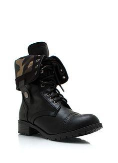 Camo Lace Em Combat Boots