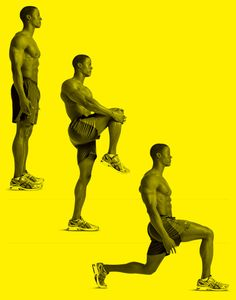 KNEE LIFT TO WALKING LUNGE http://www.menshealth.com/fitness/ultimate-10-minute-warmup/slide/6