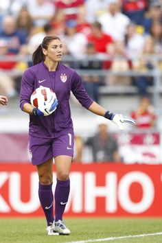 Hope Solo in the goal vs. Japan May 14, 2011