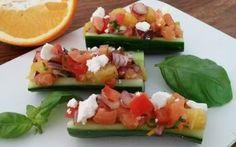 Komkommerbootjes met een heerlijk frisse vulling