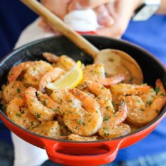 Garlic Butter Shrimp - An amazing flavor combination of garlicky, buttery goodness -