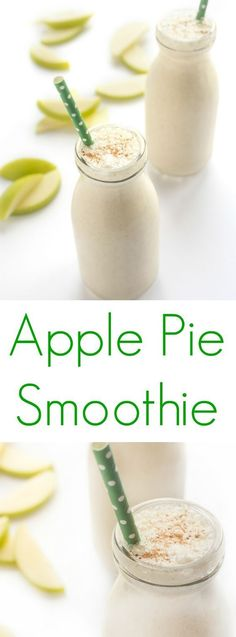 Apple Pie Smoothie Recipe is the ultimate healthy drink recipe for fall - ideal for breakfast, a snack or dessert! Apple Pie Smoothie, Protein Smoothie Recipes, Healthy Smoothies, Healthy Drinks, Healthy Snacks, Good Healthy Recipes, Snack Recipes, Easy Recipes, Breakfast Recipes