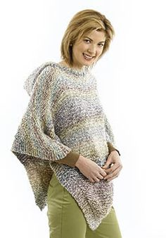 Pretty Ponchoin Lion Brand Homespun - 40706. Discover more Patterns by Lion Brand at LoveKnitting. The world's largest range of knitting…