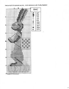 Free bunny chart. ~~~ I would love to be able to do cross stitch like this...