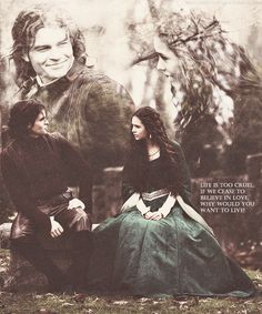Elijah & Katherine, apparently it is a common mistake to fall for Katherine, there is Trevor, Elijah, Damon, Stefan and Mason (so far :)