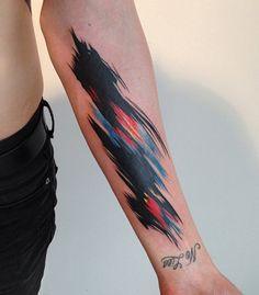 14 Watercolor Forearm Tattoo