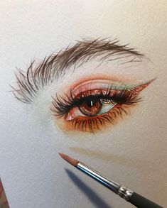 Акварель портрет en 2019 dibujos, dibujos de ojos y dibujos con acuarelas. Portrait Au Crayon, Pencil Portrait, Portrait Art, Eyes Artwork, Arte Sketchbook, Sketchbook Ideas, Eye Art, Art Inspo, Art Sketches