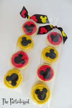 Decorated cookies at a Mickey Mouse birthday party!  See more party planning ideas at CatchMyParty.com!