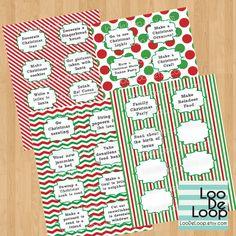 Printable Advent Calendar Activities DIY Digital PDF files. $4.50, via Etsy.