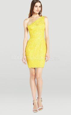Yellow Lace Bridesmaid Dresses