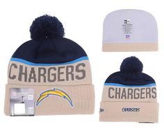 Mens Womens San Diego Chargers New Era Gray Sport Vivid Team Logo Cuff Knit  Pom Beanie Cap - Grey   Navy 67003224502b