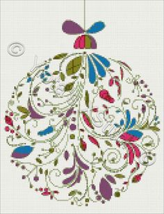 Abstract Christmas ball No1 cross stitch kit or pattern
