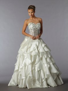 I LOVE the top, though, I'd have it lined. I'd want a different bottom. KleinfeldBridal.com: Pnina Tornai: Bridal Gown: 32657249: Princess/Ball Gown: Natural Waist