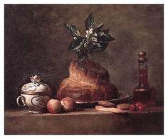 'The Brioche', 1763 (oil on canvas) Chardin