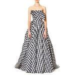Carolina Herrera Strapless Gingham Ball Gown