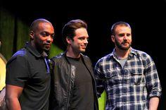 https://flic.kr/p/GWVoMC | Wizard World Philadelphia 2016: Anthony Mackie, Sebastian Stan, and Chris Evans