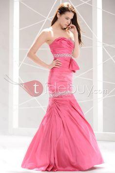 プリティマーメイド床長さブラシトレーンイブニング/ウェディングドレス
