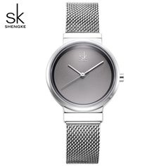 Shengke Blue Wrist Watch Women Watches Luxury Brand Steel Ladies Quartz Women Watches 2018 Relogio Feminino Montre Femme Outfit Accessories From Touchy Style. Cheap Watches, Watches For Men, Women's Watches, Wrist Watches, Watches Online, Fashion Watches, Grey Watch, Swiss Army Watches, Mesh Band