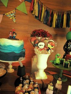 Fantastic Jake and the Neverland Pirates birthday party! See more party planning ideas at CatchMyParty.com!