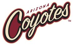 Arizona Coyotes Wordmark Logo on Chris Creamer's Sports Logos Page - SportsLogos. A virtual museum of sports logos, uniforms and historical items. Everett Silvertips, Coyotes Hockey, Phoenix Coyotes, San Tan Valley, Word Mark Logo, Ice Hockey Teams, Rustic Logo, Sports Team Logos, Arizona Coyotes