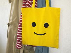 Retro LEGO canvas tote bag