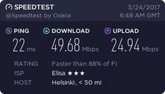 Check out my Speedtest result! How fast is your internet?