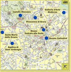 Milan Map Tourist Attractions - http://travelto8.com/milan-map-tourist-attractions.html
