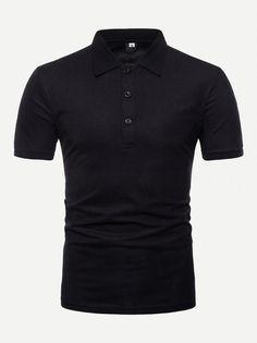 3bccd78a3d  13 - Men Tape Detail Solid Polo Shirt - Men Polo Shirts  shirt Diseño De
