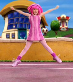 Lazy Town Girl, Lazy Town Memes, Kids Cartoon Shows, 2000s Kids Shows, Beach Volleyball Girls, School Girl Dress, Cinema Movies, Pretty In Pink, Actors & Actresses
