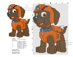 Paw Patrol Zuma free cross stitch pattern 59x86