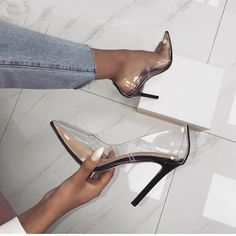 Nordstrom Heels - Cheap Women's Pumps, Buy Directly from China Suppliers:OIAH Ho. - Nordstrom Heels - Cheap Women's Pumps, Buy Directly from China Suppliers:OIAH Hot Summer Shoes Clear PVC Sandals Perspex Heel Stilettos High Heels Poi. Studded Heels, High Heels Stilettos, Women's Pumps, Stiletto Heels, Cute Shoes, Women's Shoes, Me Too Shoes, Talons Sexy, Super High Heels
