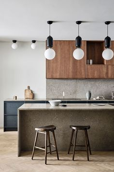 How to create the dream kitchen - Nordic Kitchen - Award winning modern kitchens in Scandinavian design. Swedish Kitchen, Nordic Kitchen, Wooden Kitchen, New Kitchen, Rustic Kitchen, Kitchen Ideas, Kitchen Decor, Küchen Design, Home Design