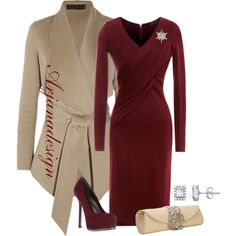 """""""The Holidays in Donna Karan"""" by arjanadesign on Polyvore"""