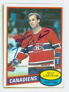 Guy Lafleur AUTO 1980-81 Topps Canadiens by Regular Topps Issue. $25.00. This card was signed by Guy Lafleur and authenticated by JSA - a leading 3rd party authenticator