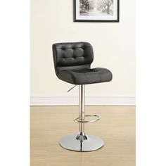 Coaster Dining Chairs and Bar Stools Upholstered Adjustable Bar Stool - Coaster Fine Furniture
