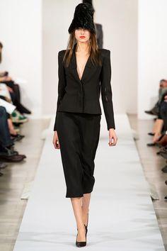 Chic Black Structured Peplum Ruffled Top Midi Skirt-Suit with ...