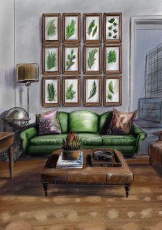 Architecture Symbols, Interior Architecture Drawing, Architecture Drawing Sketchbooks, Drawing Interior, Watercolor Architecture, Interior Sketch, Architecture Design, Interior Design Tools, Interior Design Renderings