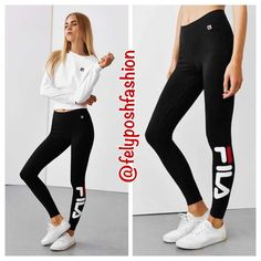 Urban Outfitters Fila Logo Leggings Urban Outfitters Fila Logo Leggings We're obsessed with these stretch-fit long leggings from our exclusive FILA collection. Inspired by their iconic '90s pieces, these softknit leggings are finished with an oversized logo at the leg. Comfortable and perfect for a throwback iconic brand. Various sizes available. Brand New With Tag Urban Outfitters Pants Leggings