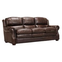 Leather Sofa In Dark Brown | Nebraska Furniture Mart