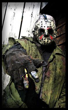 My Jason Voorhees costume by ibentmywookiee on DeviantArt Jason Voorhees Costume, Horror Movies, Nerdy, Babe, Friday, Deviantart, Costumes, Halloween, Horror Films